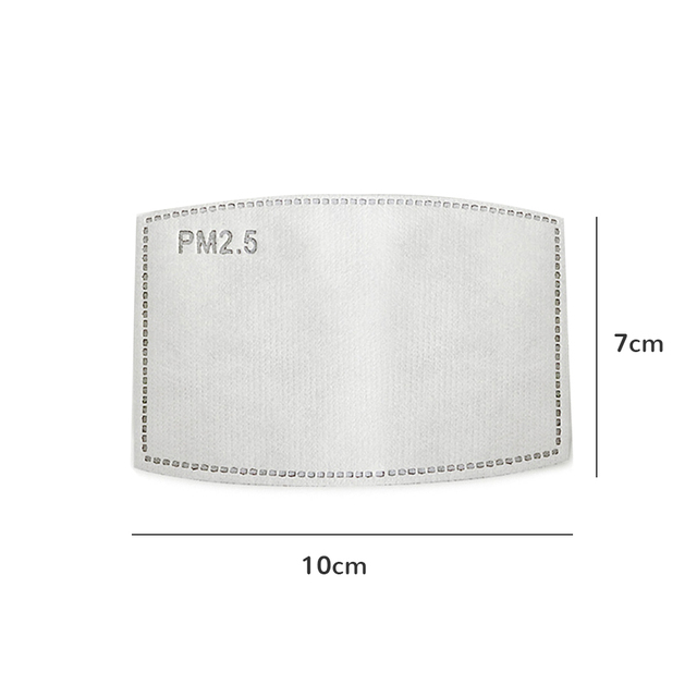 Pm25 Filter ARBON-FILTER-PAPER Mouth-Mask Activated Non-Woven Anti-Haze Kids/adult Face Mask With Filter Activated Carbon Pad 2