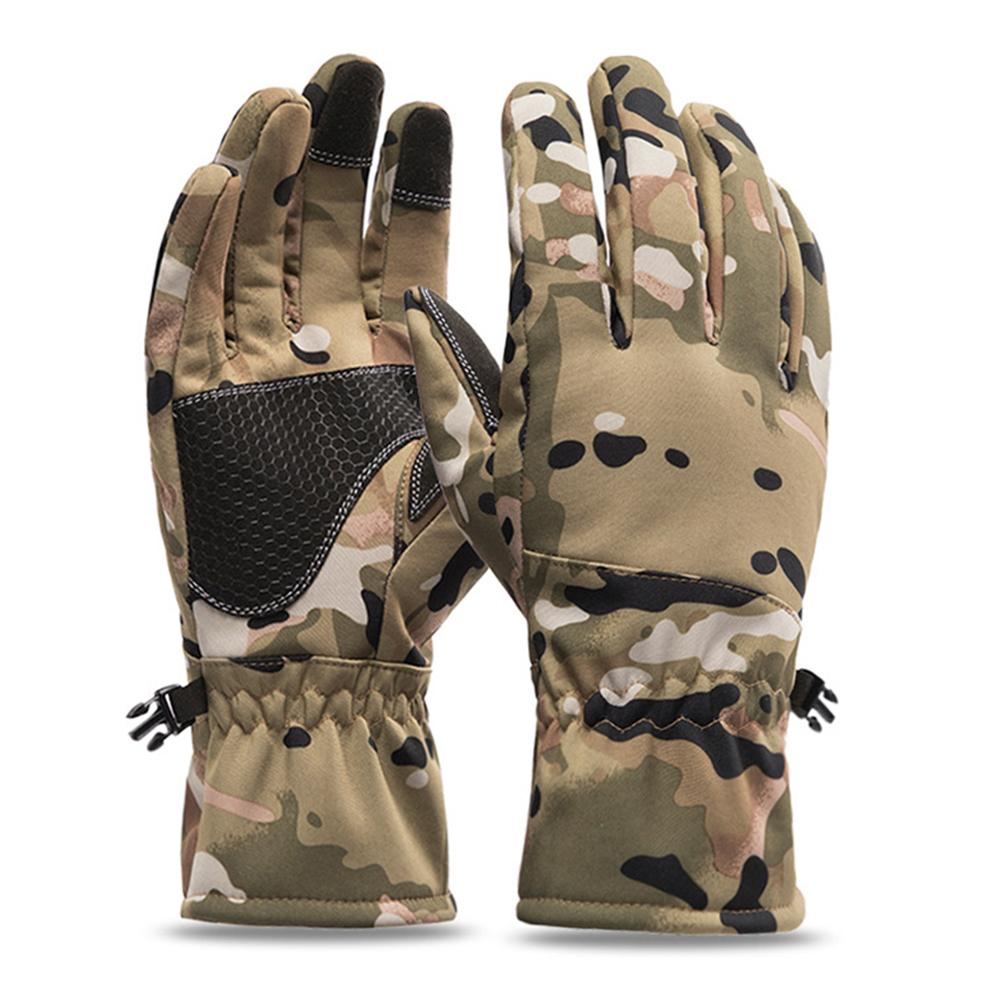 Winter Camouflage Hunting Gloves Warm Anti-slip Fishing Gloves Waterproof Touch Screen Skiing Camping Gloves