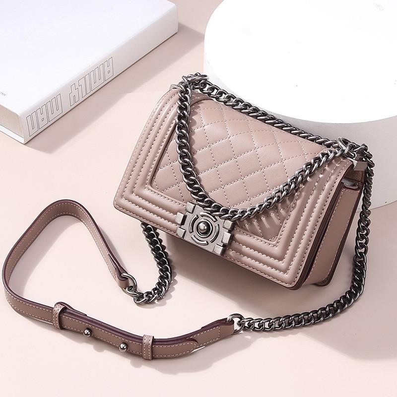 Women Handbag Shoulder Fashion Chain Messenger Bag Latest Real Leather Genuine Ladies Messenger Bag Small Tote High Quality