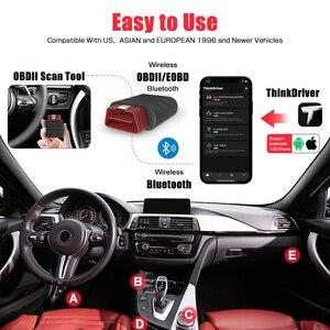 Image 4 - Ra Mắt Thinkdriver Obd2 Máy Quét Bluetooth Chuyên Nghiệp Đầy Đủ Hệ Thống 15 Đặt Lại Chức Năng OBD 2 Ô Tô Máy Quét PK AP200
