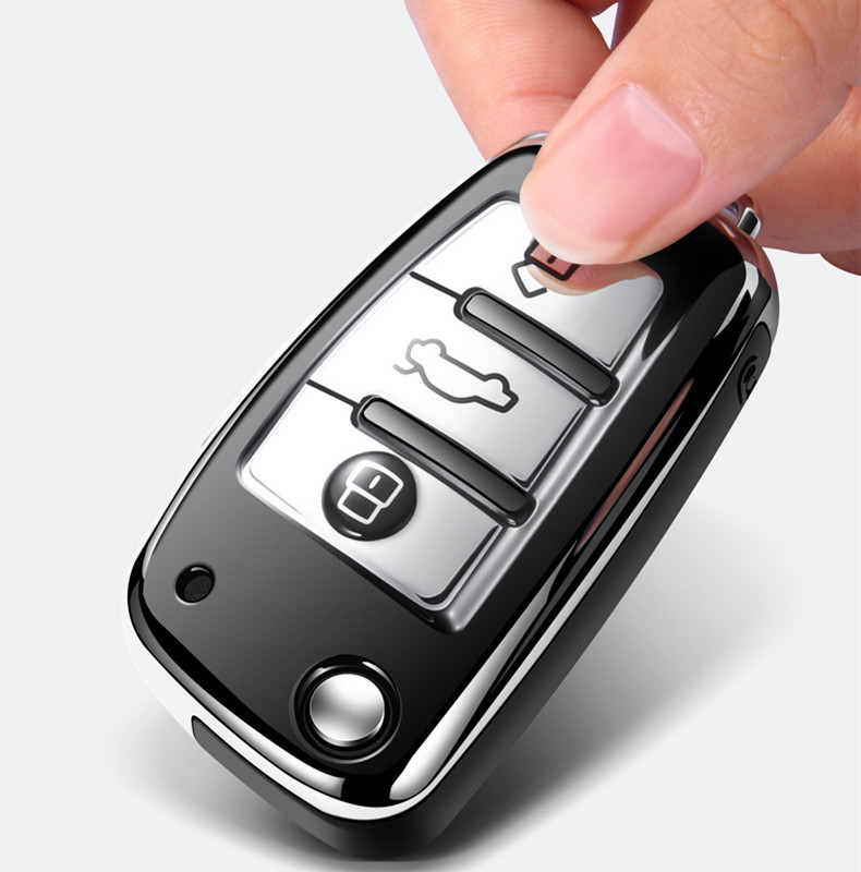 2020 New style Hight quality TPU ABS Car Key Cover Case For Audi A8 A6 A3 Q3 Q7 R8 Folding Remote Keyless