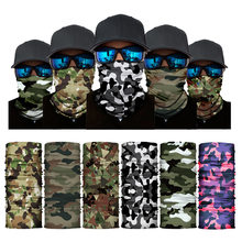 High Elastic Camouflage Seamless Bandana Buffs Neck Gaiter Headband Cycling Fishing Balaclava Tube Face Shield Men Women Scarf(China)
