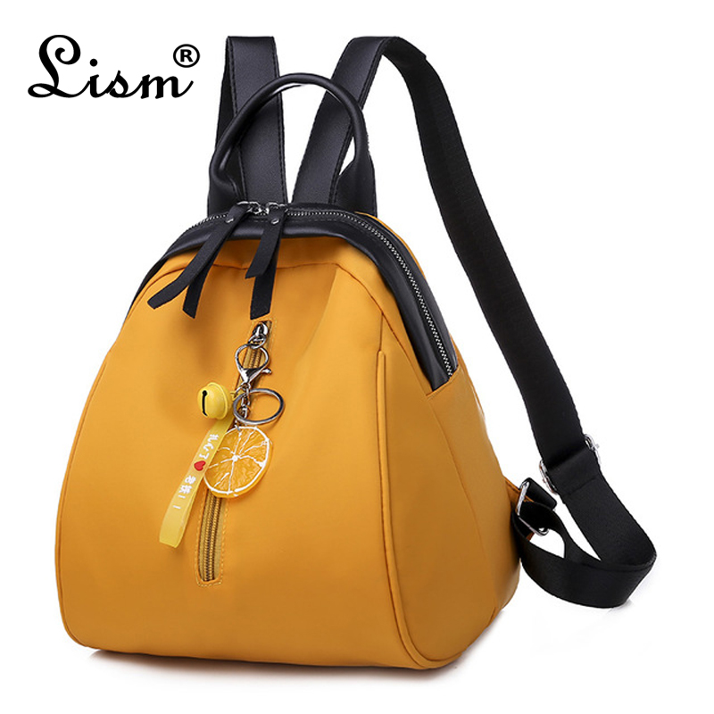 2020 New Ladies Backpack Cute Fresh Shell Bag Youth Girl Schoolbag Bell Pendant Multifunctional Leisure Travel Bag