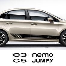 2 uds pegatina lateral de coche para Citroen Berlingo C1 C2 C3 C4 C4L C5 C6 C8 C-Crosser C-ELYSEE nervioso Nemo Picasso VTS Xsara Accesorios