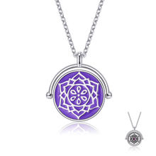 ZEMIOR 925 Sterling Silver Pendant Necklace For Lovers The Chakras Round Austria Crystal Necklace Party Fine Jewelry 2021