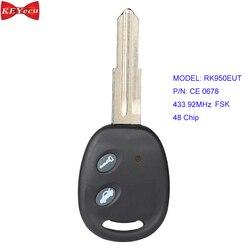 KEYECU dla chevrolet aveo 2009-2016 pilot z kluczykiem samochodowym RK950EUT CE0678 433.92MHz FSK 48 Chip