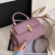 Crocodile Pattern Crossbody Bags For Women 2020 Small Chain Handbag Small