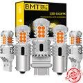 Светодиодные поворотники BMTxms без Hyper Flash P21W PY21W BA15S BAU15S W21W 7440 1156 7507 Canbus без ошибок, Янтарное автомобильное освещение