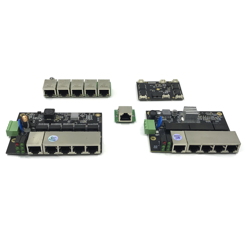 Unmanaged 3/5port 10/100/1000M Industrial Ethernet Switch Module  PCBA Board OEM Auto-sensing Ports PCBA Board OEM Motherboard