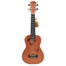 23 inch Ukulele Concert Inch 17 Frets Mahogany 4 String Acoustic Beginner Hawai Guitar