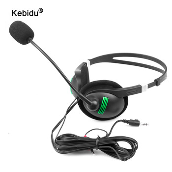 3.5 mm Headphone Wired Earphone with Microphone Noise Canceling Computer Headset Lightweight for Laptop PC School Children 2