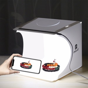Image 5 - Cadiso מתקפל רך תיבת 20cm LED מיני צילום סטודיו מפוזר Lightbox תמונה עם שחור לבן רקע עבור מצלמה טלפון