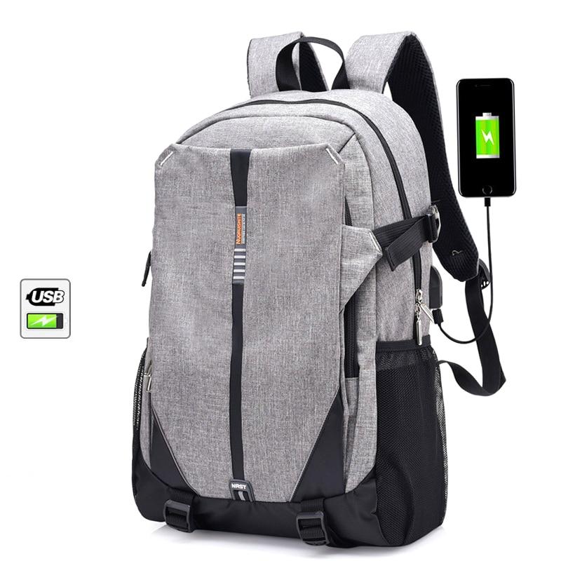 2018 marque toile hommes sac à dos Cool lycée sacs pour adolescente livre sac garçons filles USB cartable ordinateur portable pack femmes Gym sacs