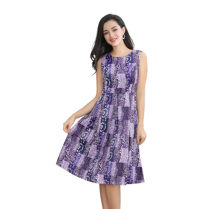 S-3XL 9 kolor 2020 nowa letnia sukienka prosta moda codzienna Sexy Temperament Plaid duży rozmiar bez rękawów O-Neck kobiety sukienka CW586