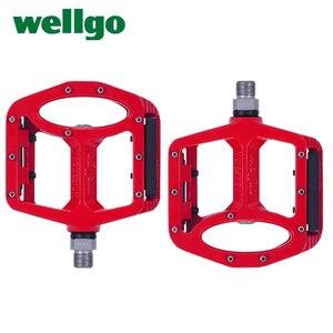 Image 2 - Wellgo pedały MTB 2 uszczelnione łożyska pedały rowerowe do rowerów bmx górski rower szosowy pedały szeroki stop magnezu pedały rowerowe MG 1
