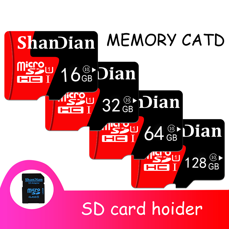 SHANDIAN micro sd карта 128 Гб 64 Гб micro sd 32 Гб мини карта 16 Гб класс 10 для samrtphone и настольного ПК 100% Оригинальная карта памяти