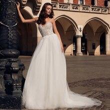 Женское ТРАПЕЦИЕВИДНОЕ свадебное платье привлекательное фатиновое