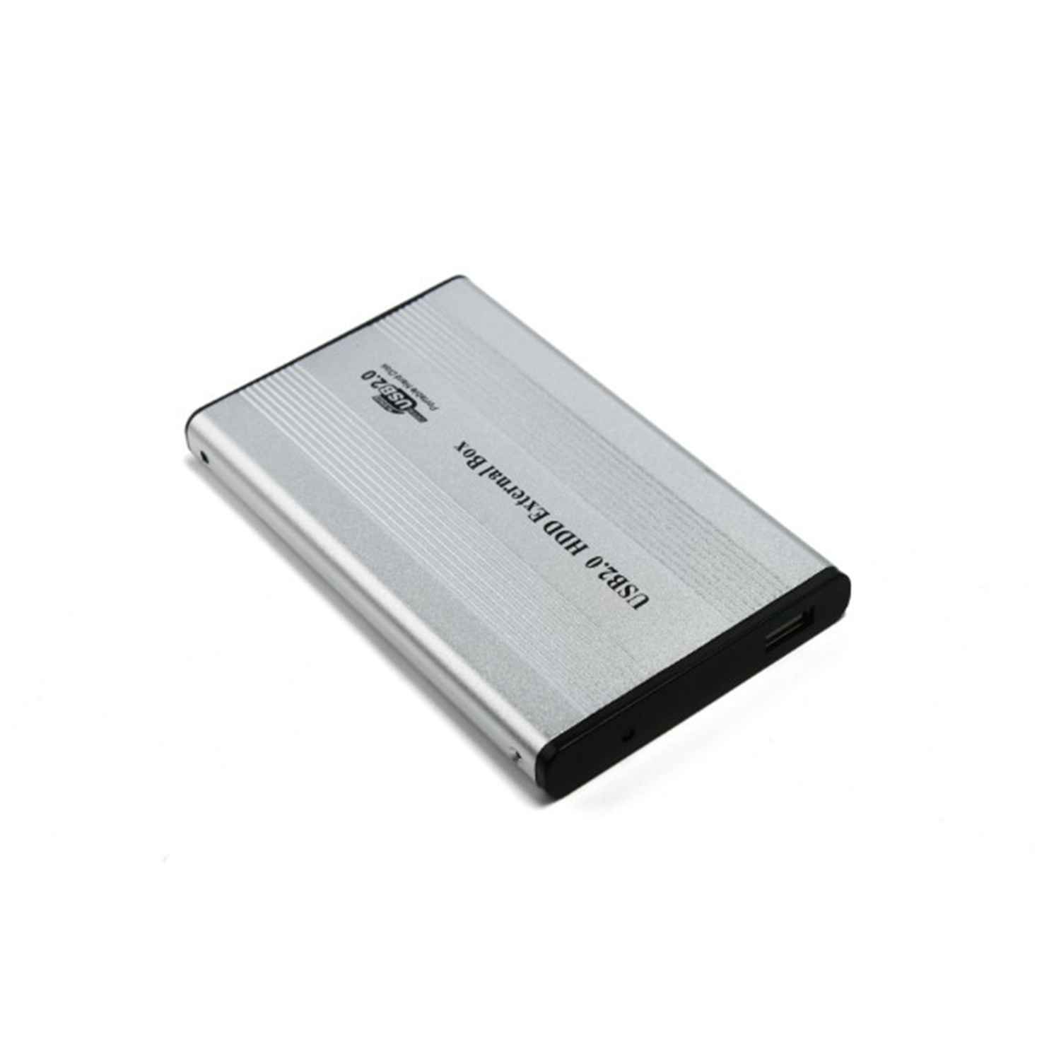 2.5 inch HDD IDE External Case Color : Silver Silver