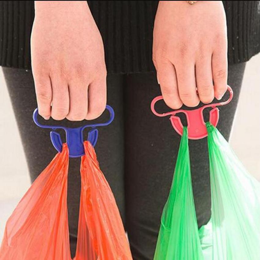 Bag Hanging Bag Holder Portable Vegetables Device Save Effort Kitchen Gadgets Mention Dish Carry Shopping Bags Random Color60433