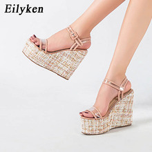 Eilyken Gladiator Women Sandals Summer Fashion High Heels Pl