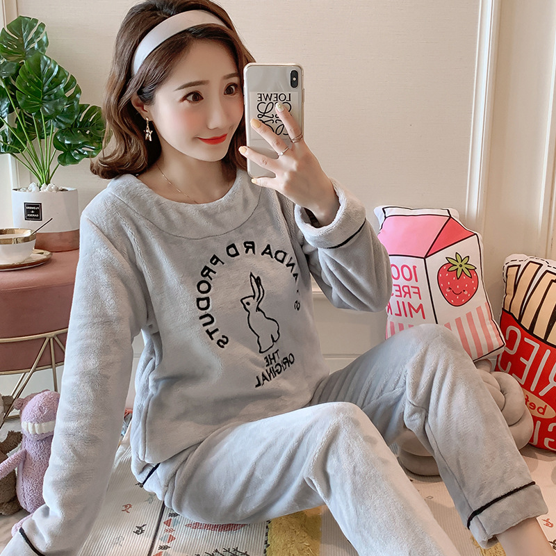 Betyline 2019 New Winter Pajamas For Women Sleepwear Warm Flannel Long Sleeves Pajamas Cute Animal Homewear Thick Homewear 165