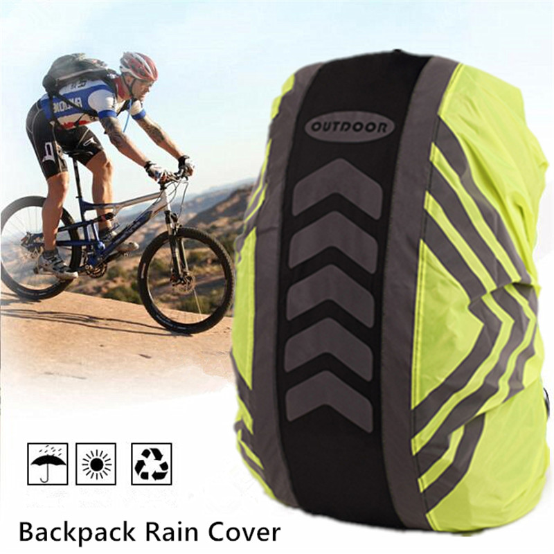 20-55L Waterproof Reflective Backpack Cover Camping Outdoor Cycling Rain Cover Hiking Cycling Bag Cover