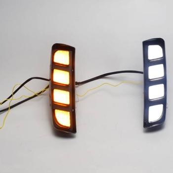 Led Daytime Running Lights Yellow Turn Signal Lamp ABS Waterproof for Honda Civic Type R 2018 2019