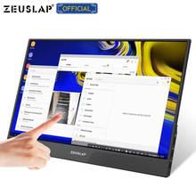 15.6 polegada painel de toque portátil monitor usb tipo c hdmi portátil computador touch monitor para ps4 switch xbox um telefone portátil