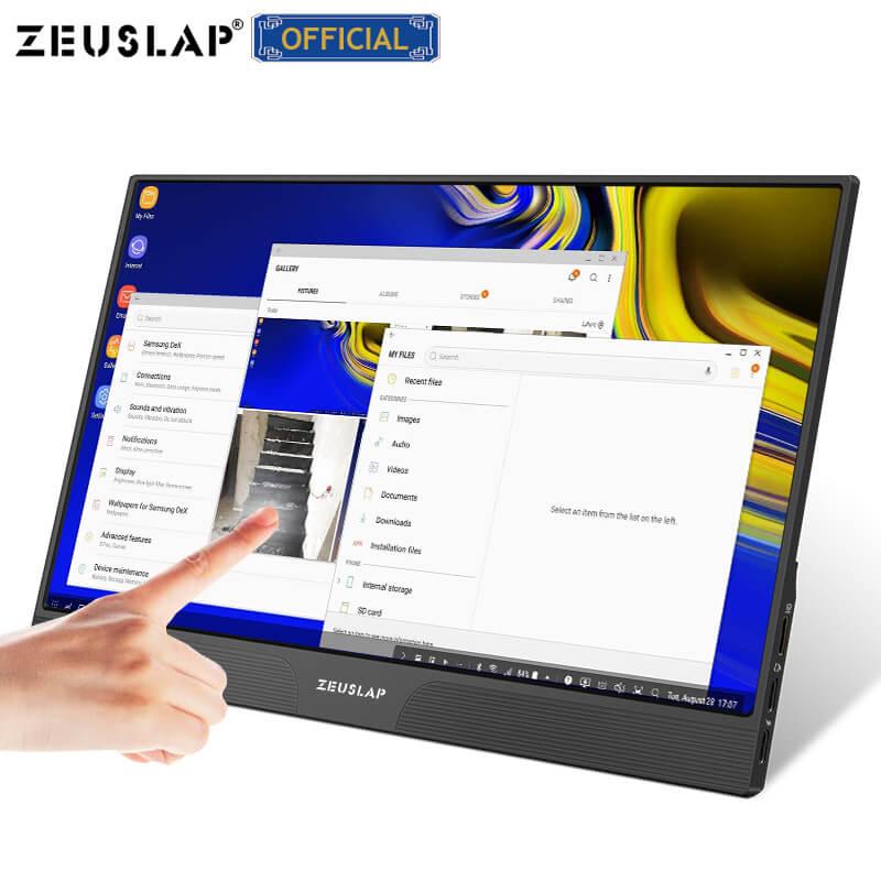 15.6 polegadas painel de toque monitor portátil usb tipo c hdmi-compatível computador monitor de toque para ps4 switch xbox um telefone portátil