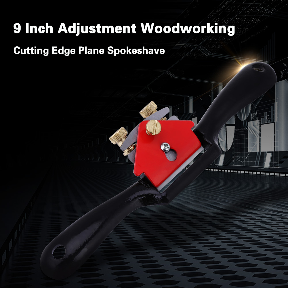 9 Inch Adjustable Hand Planer Plane Deburring Cutting Edge Planer Screw Spoke Shave Hand Tool Manual Woodworking Tools