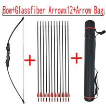 1set Bow And Arrow 40lbs Recurve 51inch Straight With 12pcs Fiberglass Arrows Bag Hunting Shooting Accessories
