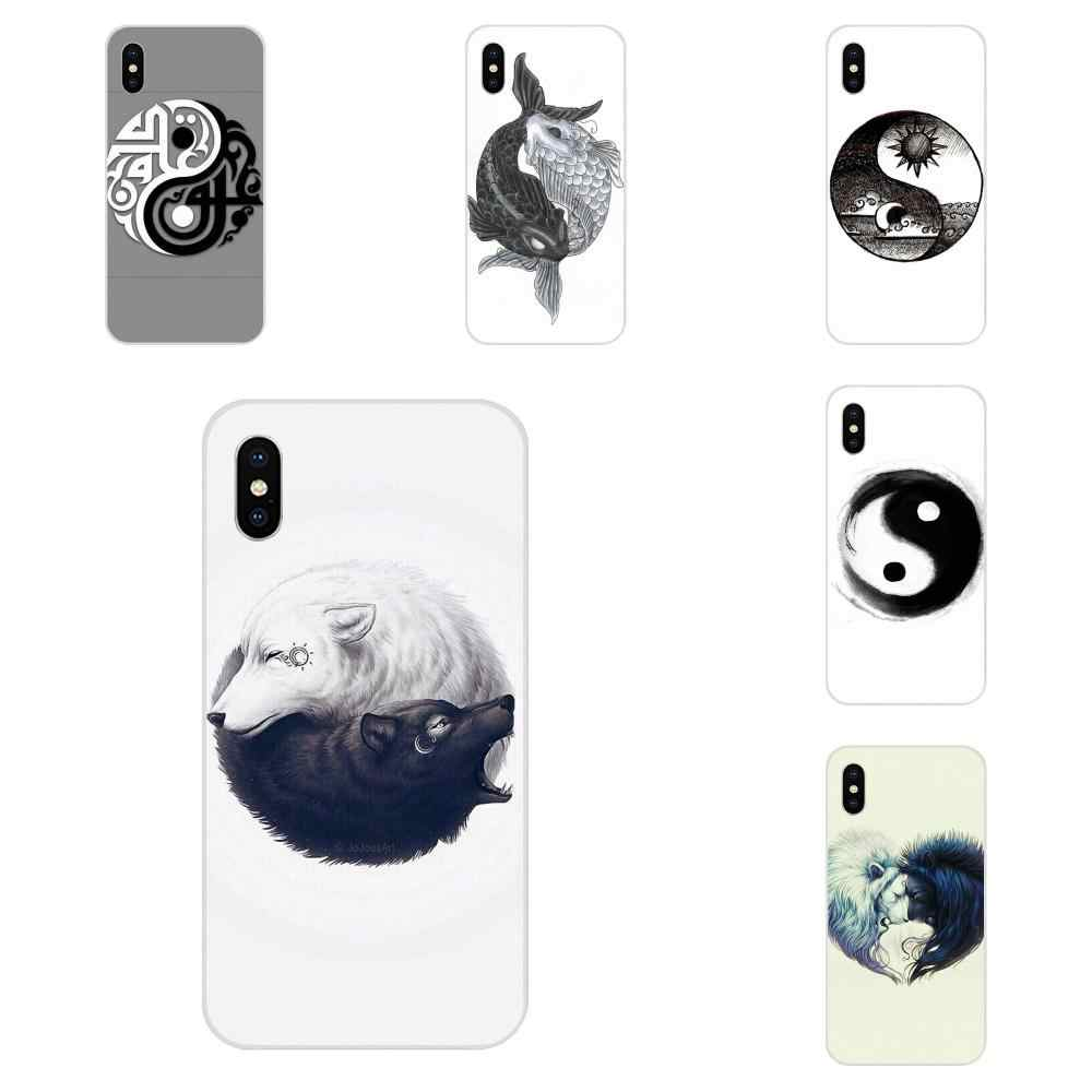 Para Apple iPhone 4 4S 5 5C 5S SE 6 6S 7 8 Plus X XS X Max XR suave carcasas Graffiti Yin Yang