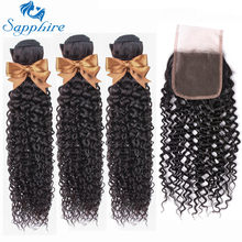 Afro Kinky Curly Bundles With Closure Remy Brazilian Human Hair Bundles With Closure Brazilian Hair Weave Bundles With Closure