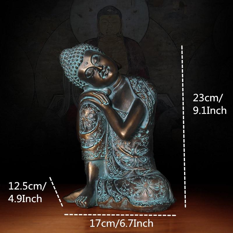 Buda durmiendo estatua artesanía estilo antiguo