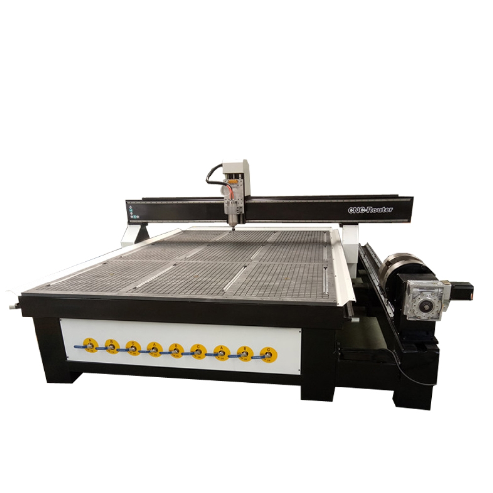 Large Scale 2030 2040 ATC Furniture Woodworking CNC Router/ 4 Axis Wood CNC Milling Machine With Rotary Chuck