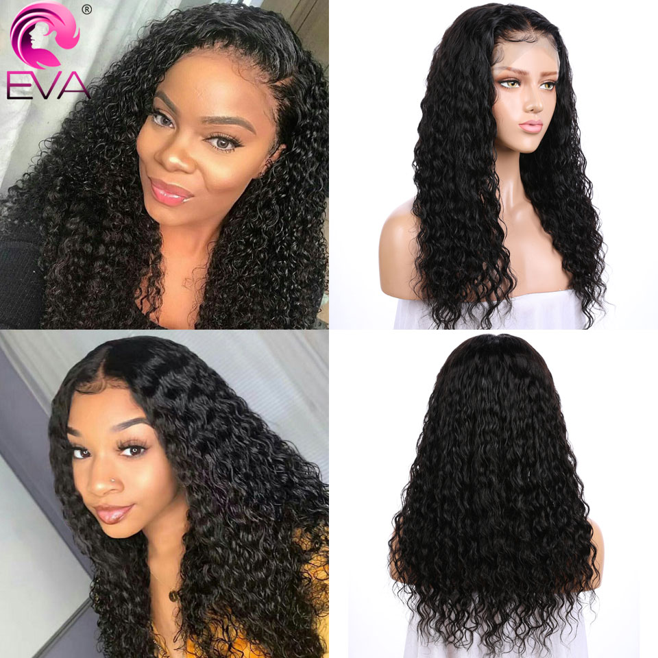 Image 5 - Eva Hair 360 Lace Frontal Wig Pre Plucked With Baby Hair Glueless Curly Lace Front Human Hair Wigs For Women Brazilian Remy Hair-in Human Hair Lace Wigs from Hair Extensions & Wigs