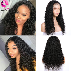 Image 5 - Eva Hair 360 Lace Frontal Wig Pre Plucked With Baby Hair Glueless Curly Lace Front Human Hair Wigs For Women Brazilian Remy Hair