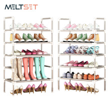 Simple Shoe Rack With Handrail Free Combination Optional Metal Shoes Storage Shelf Multifunctional Multi layer Shoe Cabinet