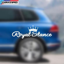 40cm Royal Stance Vinyl Decal Car Sticker Crown JDM Auto Front Windshield Window Decor Stickers Car Accessories 30cm limited edition creative vinyl decal car window tire eyebrow decor sticker auto body tail front hood stickers