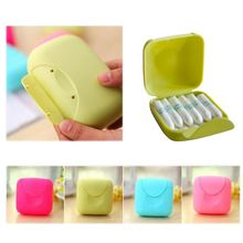Portable Women Tampons Storage Box Holder Tool Set for Travel Outdoor Color Random(China)