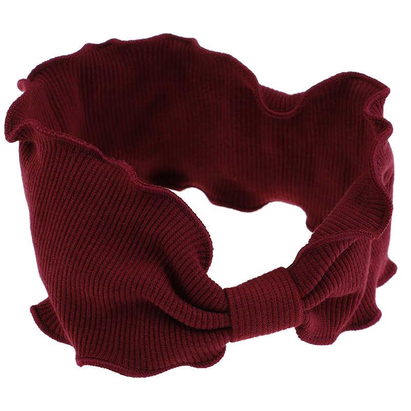 סתיו החורף קוריאני מסוקס להקת שיער אלגנטי ליידי ילדה גל Selvedge סרוגים בגימור לנשים Christma מתנת שיער אבזרים