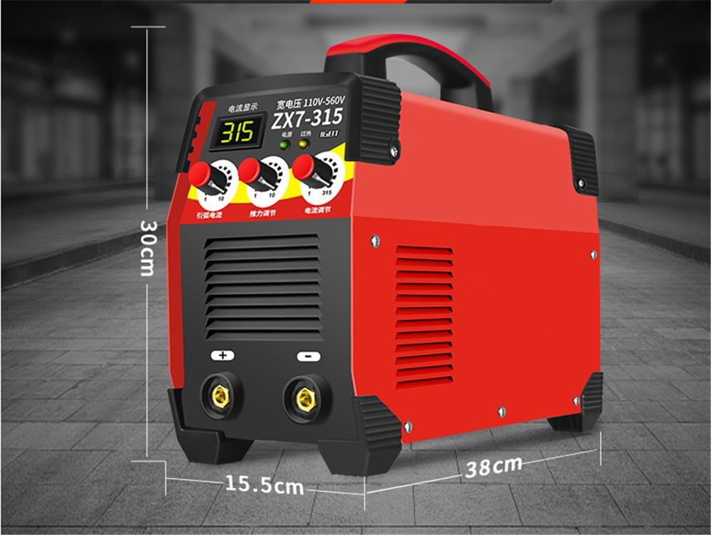 IGBT 110v-560V 11KW ZX7-315 20-315A Arc Force Electric Welding Machine LCD Digital Display  IGBT Inverter Welders