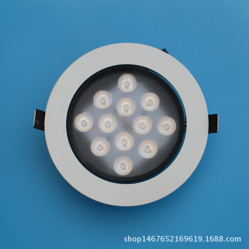New Style High-power LED Ceiling Lamp Shell Suite 9W12W Black And White Spotlights Accessories High Light Oxide Electrophoresis