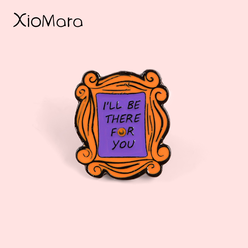 Monica's Apartment Door Enamel Pins I'll Be There With You TV Song Friends Jewelry Custom Brooches Pins For Friends Gifts image