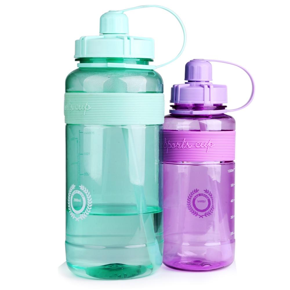Спортивная бутылка для воды с соломинкой большой емкости бутылки в форме тыквы туристическое снаряжение для кемпинга уличная посуда для на...