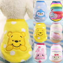 Cartoon Dog Clothes For Small Dogs Winter Pet Clothing For Cats Puppy Chihuahua Clothes Xxs Fleece Pet Dog Clothes For Small Dog leisure cartoon chihuahua dog clothes for puppy overalls 2019 spring dog clothes for small dogs coats jackets puppies clothing