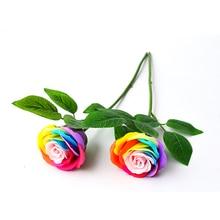1PC DIY Handmade Floral Arrangement Wire Green Leaves Stem Artifical Rose Stems Plant