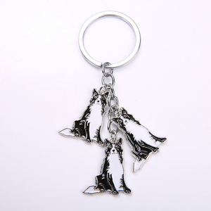 Брелок для ключей, брелок с колли брелок животное собаки тег брелок ювелирные изделия мужской подарок металлический брелок для автомобиля ...