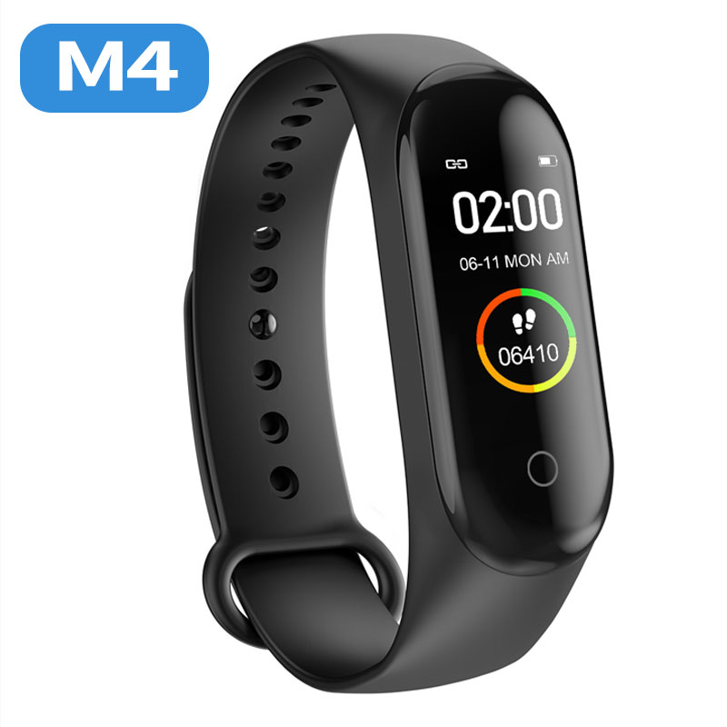 Smart Wristband Fitness M4 Sport Bracelet Pedometer Heart Rate Blood Pressure Bluetooth Health Wirstband Waterproof Smart Band