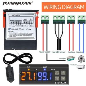 Image 2 - STC 3028 regulator temperatury termostat kontrola wilgotności termometr regulator higrometr termoregulator 12V/24V/220V 40%